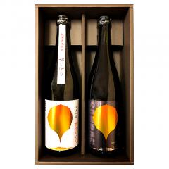 冬の贈り物2019 「慶 (よろこび)」初しぼり雪さんらんと燦爛山廃純米酒のセット
