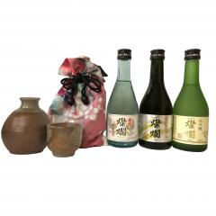 燦爛 益子焼ほろ酔いセット(益子焼:茶色)